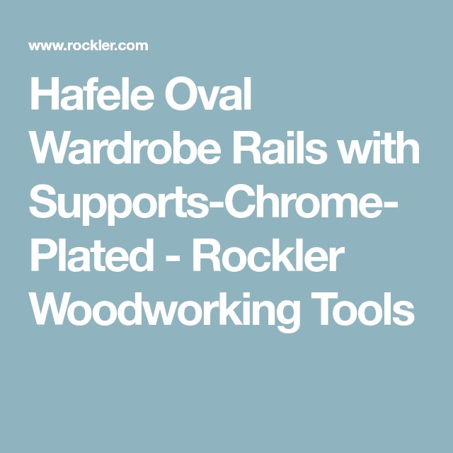 Best Hafele Oval Wardrobe Rails With Supports Chrome Plated 400 x 300