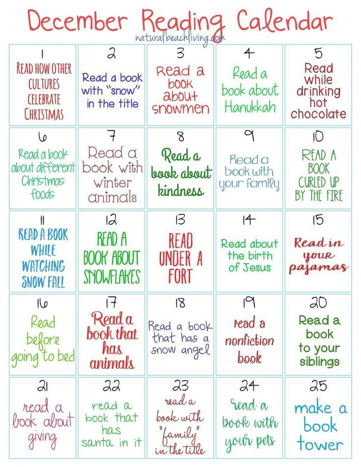 Christmas 2020 Readings For Kids Christmas Reading Challenge for Kids   Natural Beach Living in