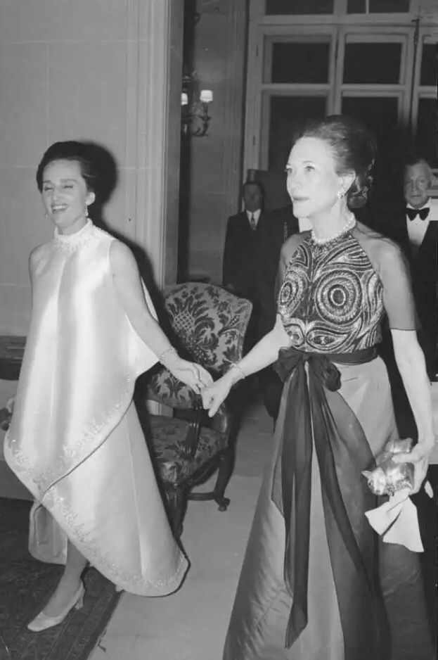 The Duchess of Windsor with Princess Lilian, second wife of Leopold III of Belgium.