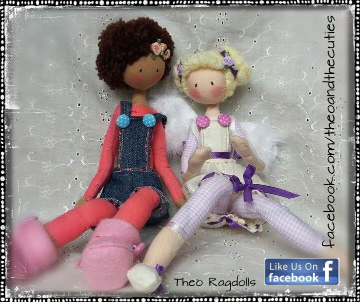 https://www.etsy.com/shop/TheoRagdolls?ref=si_shop Theo Ragdolls - Chocolina and Gloria (Tatiana's and Patrycia's) Handmade Dolls, Fabric Dolls, Cloth Dolls, Ragdolls