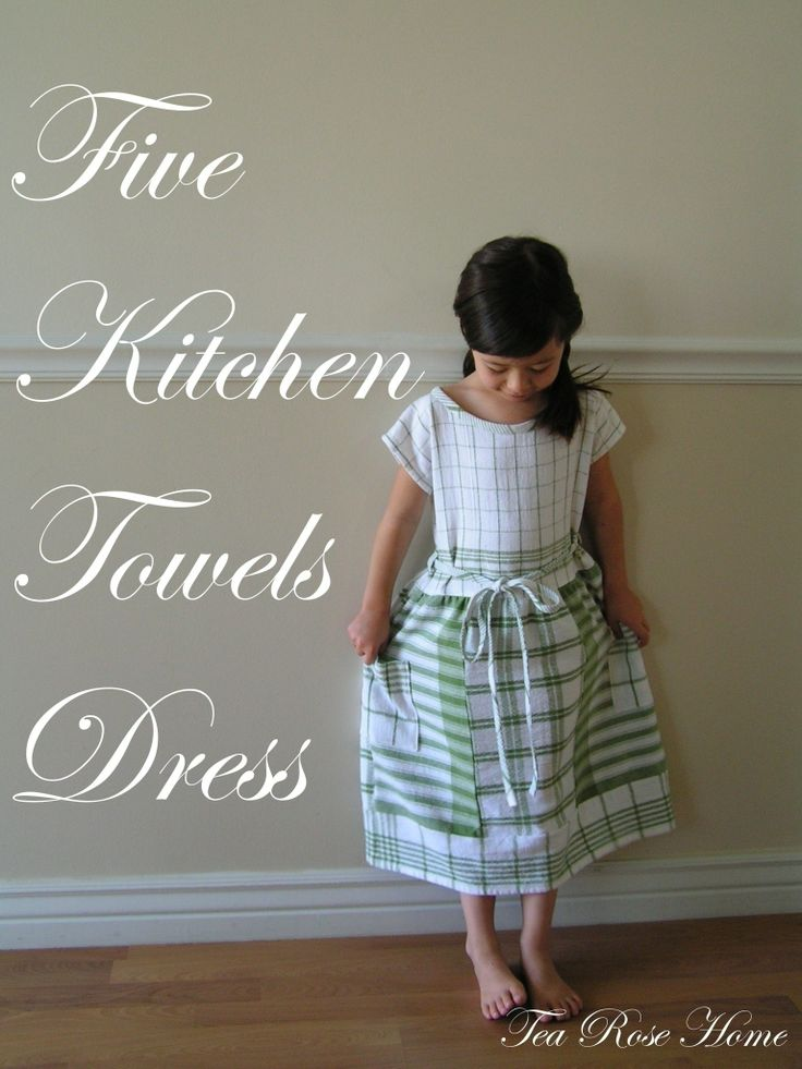 Five Kitchen Towel Dress  #howto #tutorial