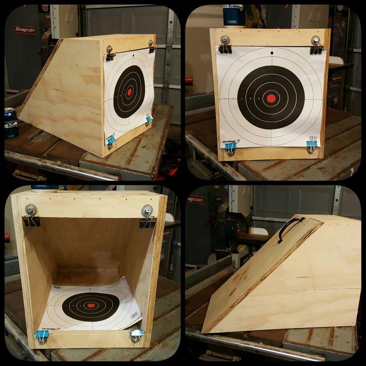 DIY BB trap target made from scrap.