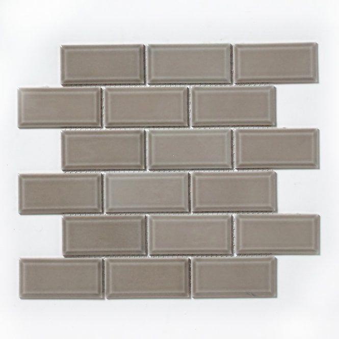 Mini Metro Oatmeal 4 9cm X 9 5cm Mosaic In 2020 Tiles Direct Mosaic Tile Samples