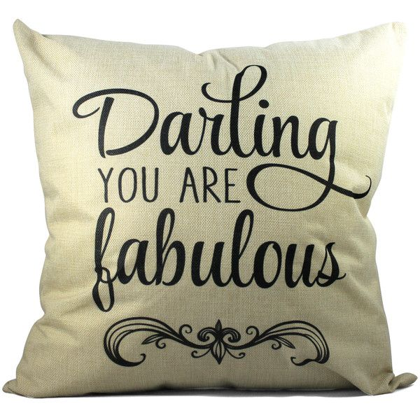 Southern Sisters Home 'Darling You Are Fabulous' Cottage Throw Pillow (29 CAD) ❤ liked on Polyvore featuring home, home decor, throw pillows, cottage home decor and southern home decor
