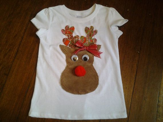 Hey, I found this really awesome Etsy listing at https://www.etsy.com/au/listing/253159985/size-4-white-t-shirt-christmas-reindeer