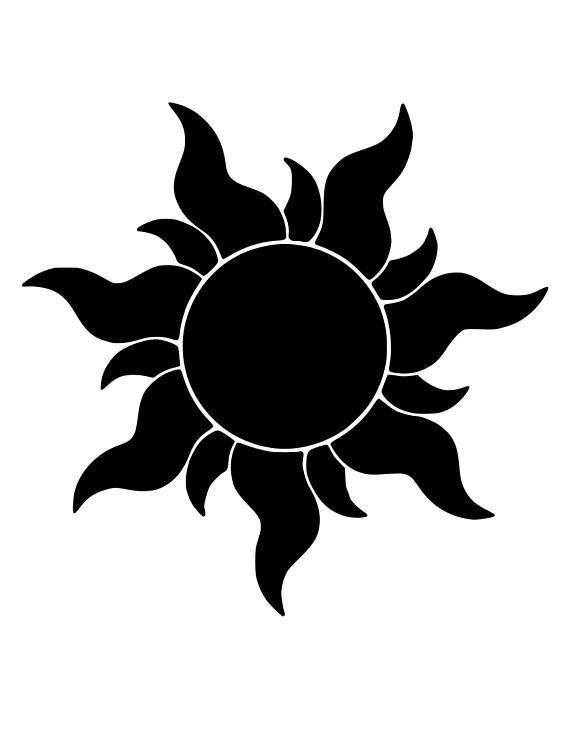 Tangled Sun Svg File For Cricut Or Silhouette Disney Stencils Tangled Sun Rapunzel Sun