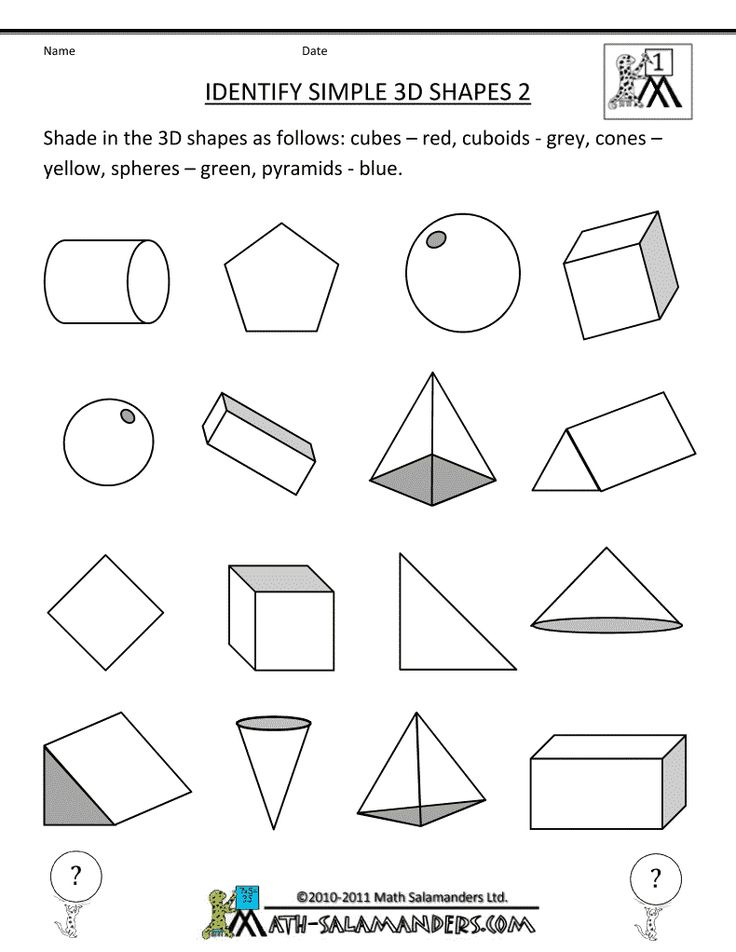 3d shape worksheets identify simple 3d shapes 790 1022 i 39 m a firstie pinterest. Black Bedroom Furniture Sets. Home Design Ideas