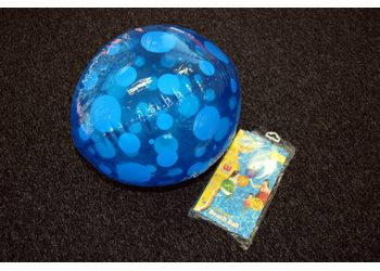 Sitting Plastic Beach Ball. Plastic beach ball supplied deflated. Approximately 30cm inflated. Ages 3+