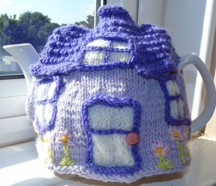 Hand knitted tea cosy cosies and crochet Daffodil Bee cottage owl roses