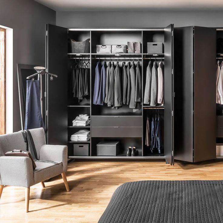 Шкаф 4-дверный, черный корпус - SIMPLE в Украине. Купить дизайнерскую мебель, декор и текстиль в Киеве — интернет-магазин Lares&Penates