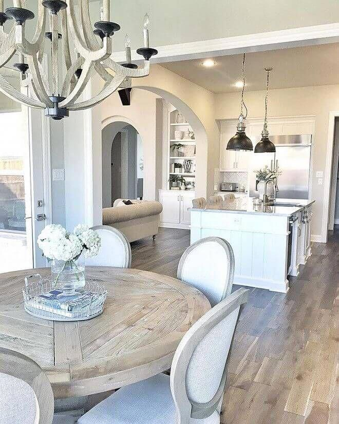 37 Timeless Farmhouse Dining Room Design Ideas That Are Simply Charming Farmhouse Dining Rooms Decor French Country Dining Room Dining Room Table Decor