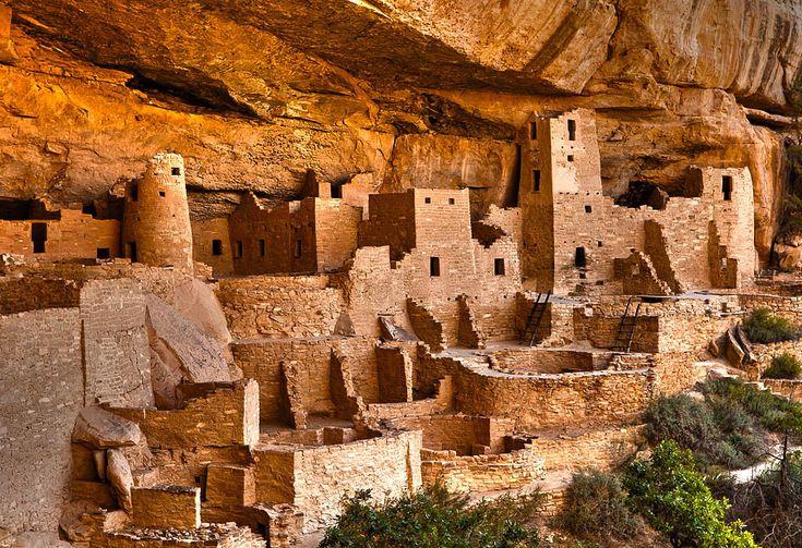 Ancient rock dwellings, circa 1200s - Mesa Verde National Park - UNESCO World Heritage Site - Colorado, USA