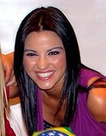 Maite Perroni Beorlegui (born March 9, 1983)[1] is a Mexican actress and singer/songwriter, who is best known for starring in Rebelde, Cuidado con el Ángel, Mi Pecado with Triunfo del Amor and Cachito de Cielo. She gained international fame as a member of the Latin Grammy nominated pop group RBD. Univision named Maite Perroni as the new Queen of the Telenovelas in 2009