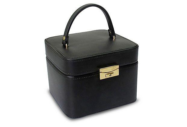 Emma Small Jewelry Box, Black on OneKingsLane.com