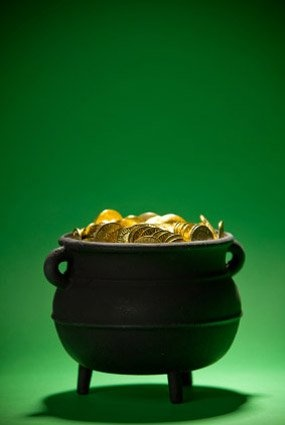 how to make a pot of gold out of fondant