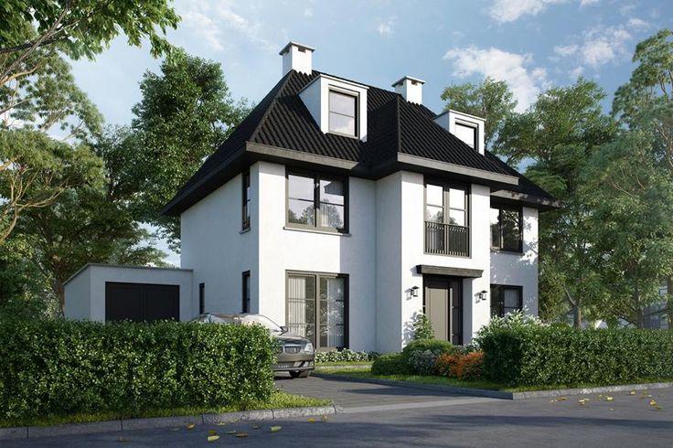 Nieuwbouw markant herenhuis Rotterdam plan Zestienhoven | Padt en Partners architecten | Buitenhuis Villabouw | Sterk adviesbureau voor bouwconstructies b.v.