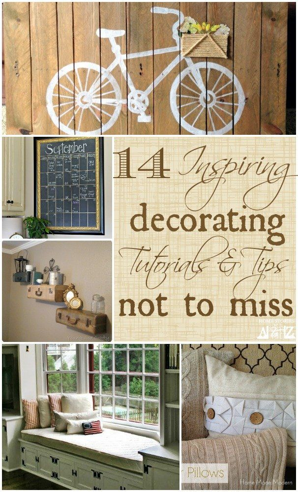 14 Inspiring Decorating Ideas. The pallet art is easy to make and adorable. Lots of great tutorials!
