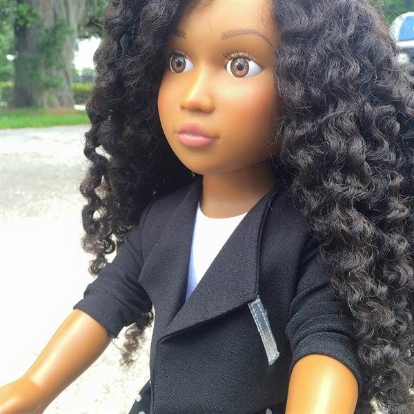 Mom creates black doll with natural hair for her daughter - TODAY.com""