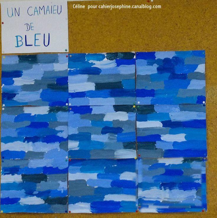 17 meilleures images propos de arts visuels cole - Nuances de bleu peinture ...