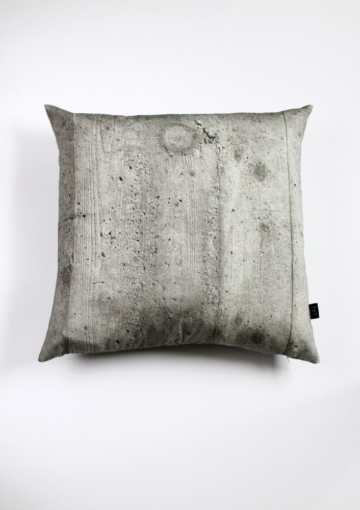 Concrete pillow, part of the Making Hard Things Soft collection