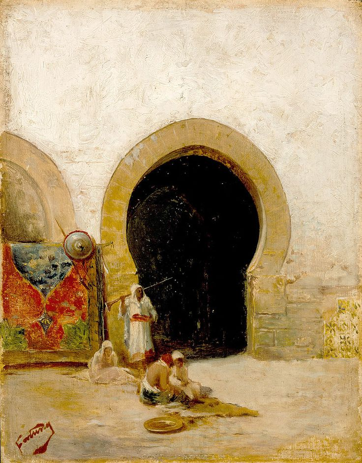 "fortuny mariano jose maria bernardo y carbo at the gate of the seraglio (from <a href=""http://www.oldpainters.org/picture.php?/25209/category/10725""></a>)"
