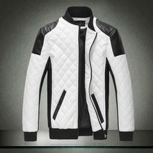 F&s 2015 neue frühjahr herbst herren motorradjacke leder pu jacke Punk-Stil männer sport outwear mantel plus size m- xxxxl(China (Mainland))
