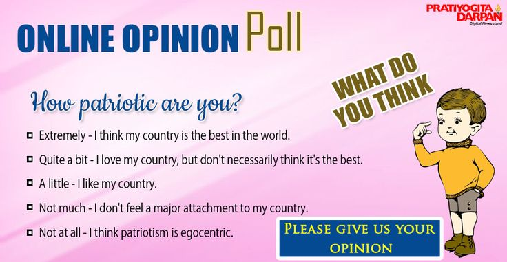 Online Opinion Poll What do You think ? Please give us your best Opinion!