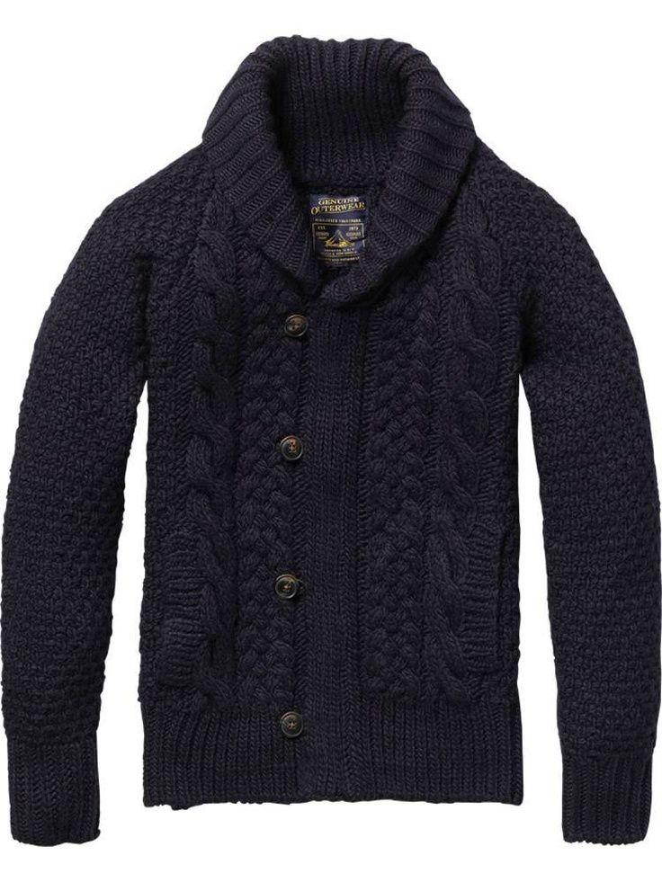 Heavy sweater in col. marine