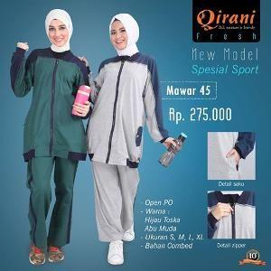 Baju Olahraga Wanita Qirani Fresh Mawar 45