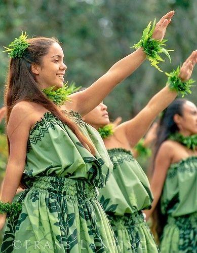 group of hula dancers
