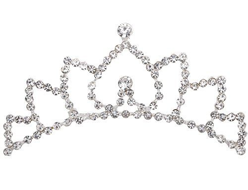 AshopZ Kids Princess Bridal Flower Tiara Crown Comb w Crystal Rhinestones -- Visit the image link more details.(This is an Amazon affiliate link and I receive a commission for the sales)