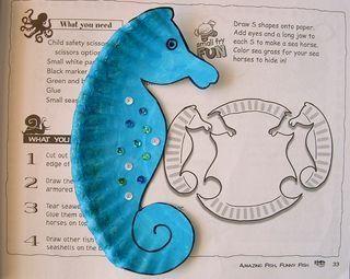 zeepaardjes van papieren bordjes