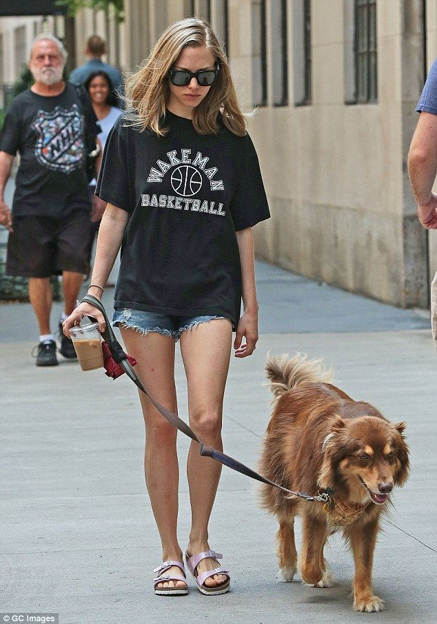 At her own pace: The Mamma Mia! starlet appeared to be strolling at a leisurely pace...