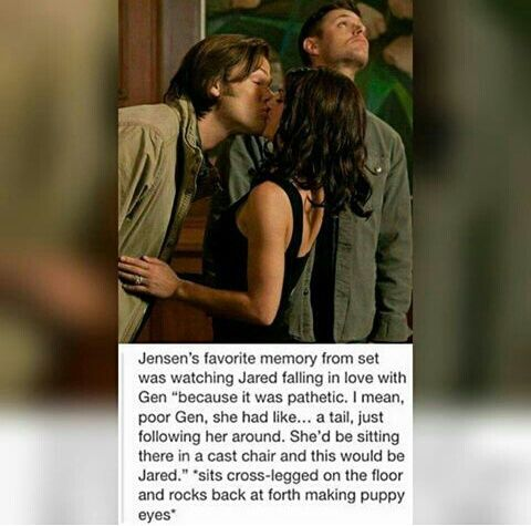 jared padalecki, genevieve padalecki, and Jensen Ackles image                                                                                                                                                                                 Mais
