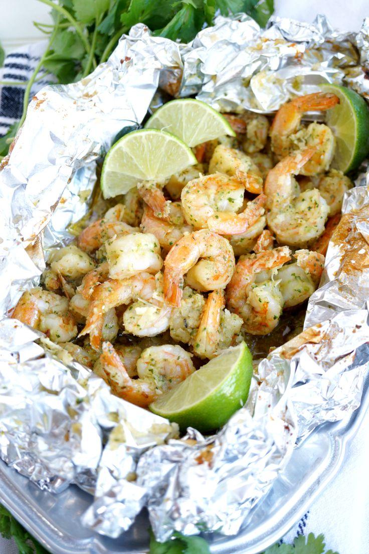 coconut lime shrimp tin foil dinner | The Baking Fairy
