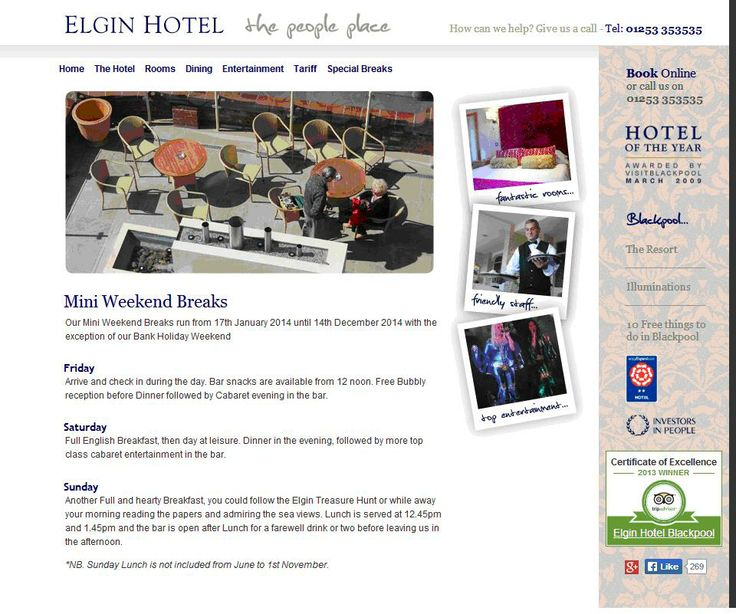 Elgin Hotel - the people place - Investors in People