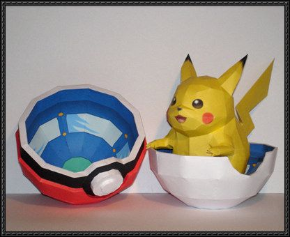 Pokemon - Pikachu and Pokeball Free Papercrafts Download