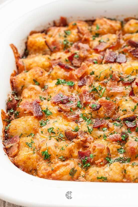 Cheesy Tater Tot Breakfast Bake 3