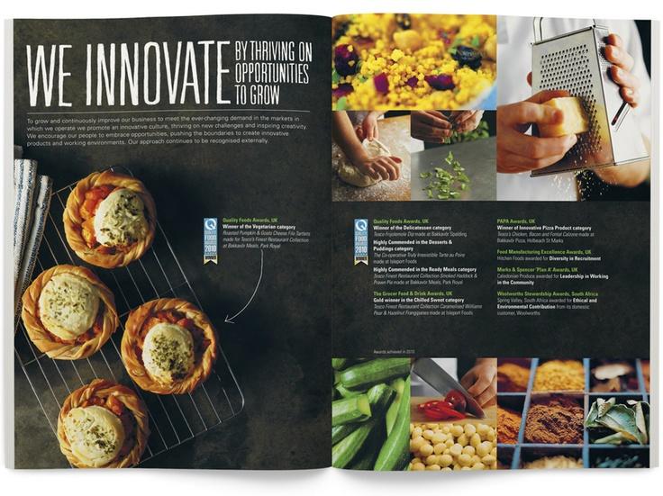 JohnstonWorks / Bakkavor  Graphis / Best Annual Reports 2012