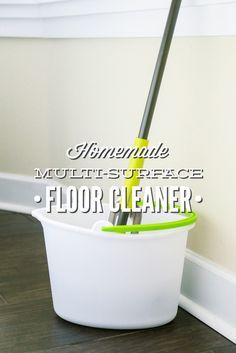 This homemade multi-surface floor cleaner is made with 3 all natural ingredients and comes together in seconds!