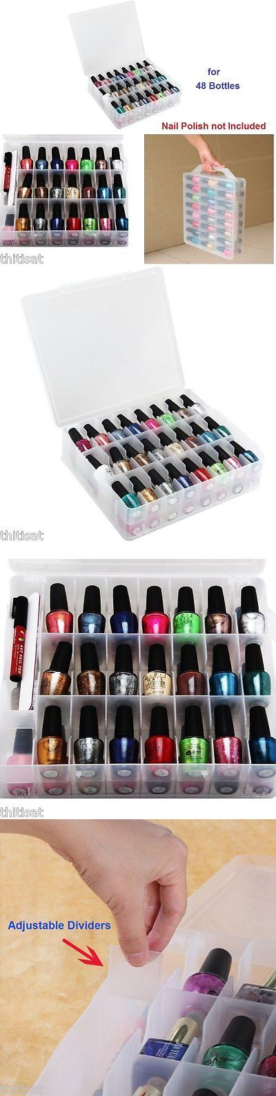 Nail Practice and Display: Organizer Nail Polish Holder Display Counter Case Storage 48 Bottles Diy Salon -> BUY IT NOW ONLY: $33.99 on eBay!