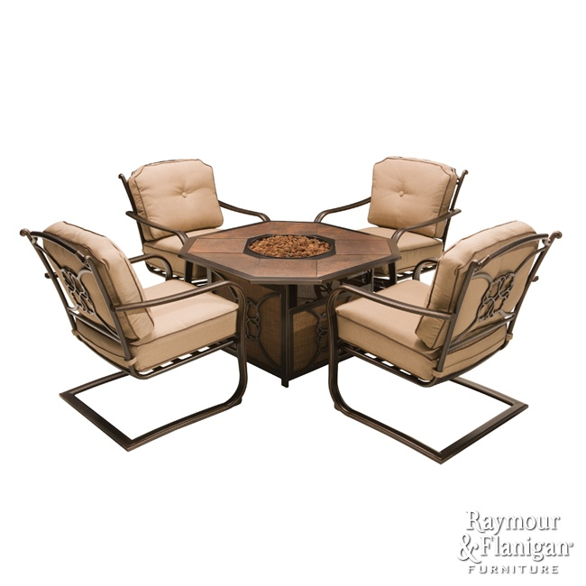 Cambria Outdoor Fire Pit Chat Set   Transform Your Backyard Into A  Social Gathering Hot