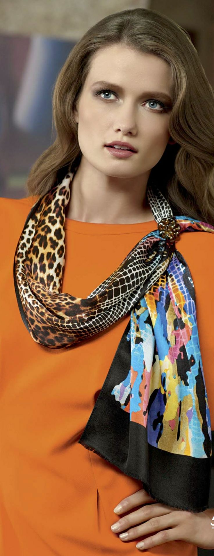 Aker Eşarp / Scarf - 2011-12 F/W #aker #scarf #esarp #hijab #fashion #silk #scarves #moda #hijab #tesettur #model #mode #style #pattern #babushka #kerchief #shawl #wrapper #trend #aker #akeresarp #akerscarf