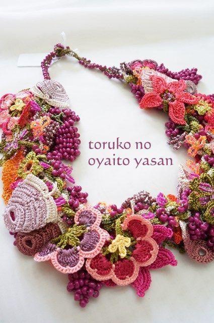 Crochet neck piece