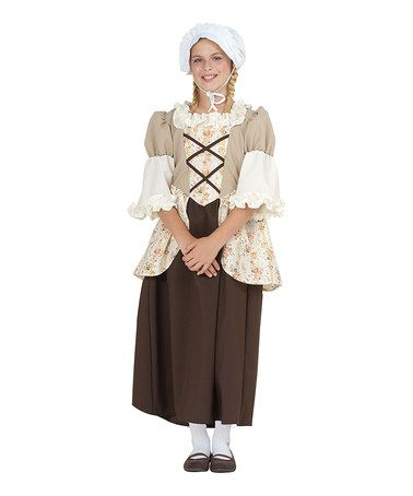 Take a look at this Brown Colonial Belle Dress-Up Outfit - Girls by RG Costumes on #zulily today!