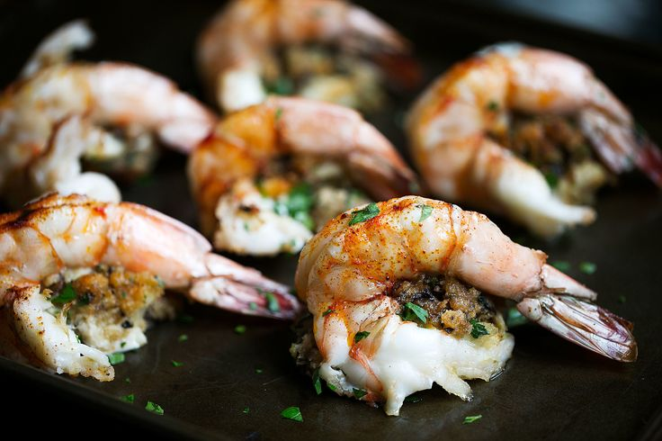 Colossal Shrimp Stuffed with Crab and Mushrooms