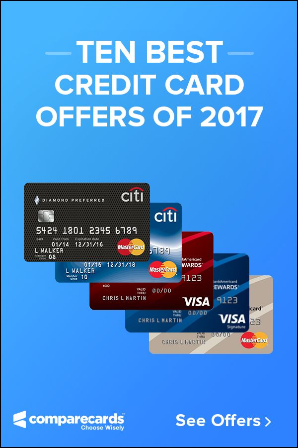 Results are in - here are the best credit cards of 2017. Choose from the best offers for travel, rewards, 0% Intro APR, Cashback, and more!