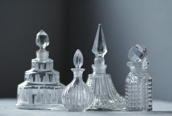vintage glass perfume bottles $19 apiece