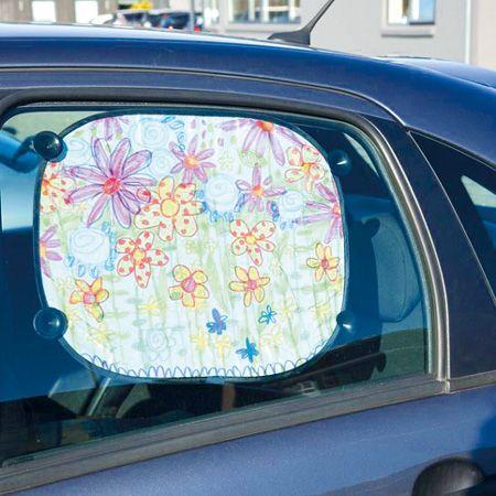 Koristele tekstiilitussein häikäissuoja autoon. Tarvikkeet ja ideat Sinellistä!