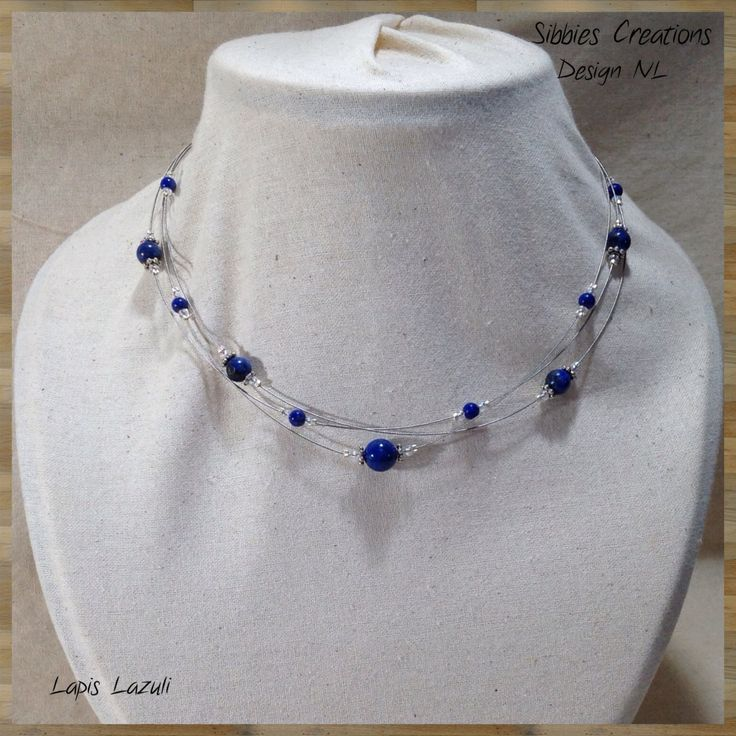 Gemstone Necklace Design NL001 Triple strand. by SibbiesCreations on Etsy